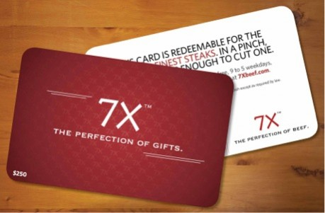 7x Beef gift card