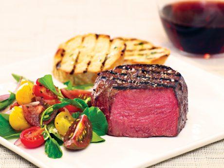 7x Beef Wagyu tenderloin steak on a plate