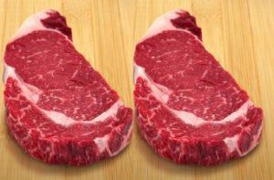 Two 7X Ribeye Steaks Wagyu