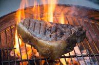 Wagyu porterhouse on grill