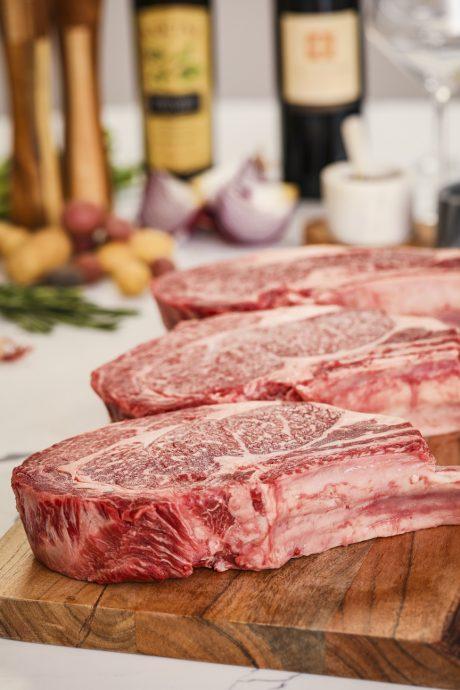 7X Beef Wagyu Cowboy-cut Ribeye Steak