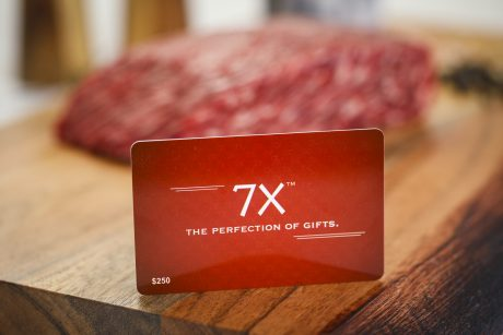 7X Beef Wagyu Steak Gift Card